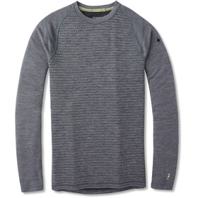 Smartwool Merino 250 Pattern Camiseta Interior Cuello Barco Hombre, medium gray tick stitch